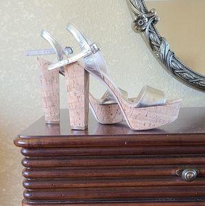 Nine west platform heels.